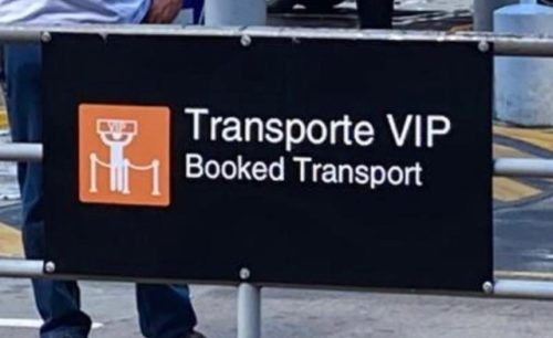 Airport VIP Sign